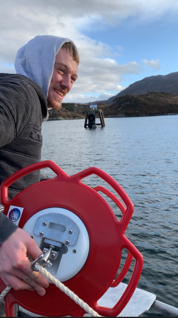 Fisherman Haydn MacKenzie with Fiomarine FioBuoy,  2020.